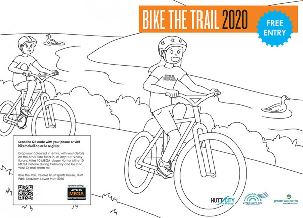 bike the trail colouring competition 2020